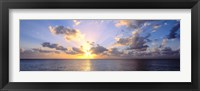 Framed Sunset 7 Mile Beach Cayman Islands Caribbean
