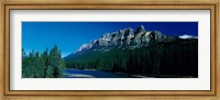 Framed Castle Mountain, Banff National Park, Alberta, Canada