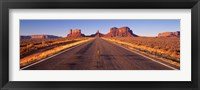 Framed Road Monument Valley, Arizona, USA