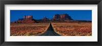 Framed Route 163, Monument Valley Tribal Park, Arizona