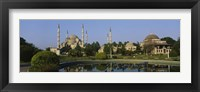 Framed Garden in front of a mosque, Blue Mosque, Istanbul, Turkey
