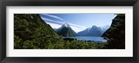 Framed Milford Sound, Fiordland National Park, New Zealand