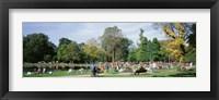 Framed People Relaxing In The Park, Vondel Park, Amsterdam, Netherlands
