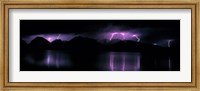 Framed Teton Range w/lightning Grand Teton National Park WY USA