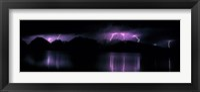 Framed Teton Range w/lightning Grand Teton National Park WY USA