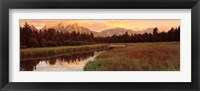 Framed Sunrise Grand Teton National Park, Wyoming, USA