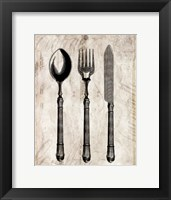 Framed Silverware I
