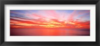 Framed Sunset Pacific Ocean, California, USA