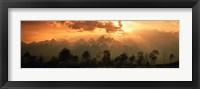 Framed Dawn Teton Range Grand Teton National Park WY USA