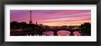 Framed Sunset, Romantic City, Eiffel Tower, Paris, France