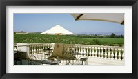 Framed Vineyards Terrace at Winery Napa Valley CA USA