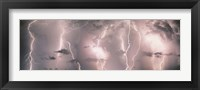 Framed Thunderstorm with Lightning