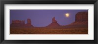 Framed Moon over Monument Valley Tribal Park, Arizona