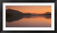 Framed Lake Zug in the Evening Mt Rigi & Mt Pilatus  Switzerland