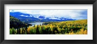Framed Panoramic View Of A Landscape, Yukon River, Alaska, USA,