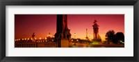 Framed France, Paris, Pont Alexandre III at dusk