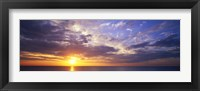 Framed Sunset, Water, Ocean, Caribbean Island, Grand Cayman Island