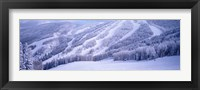 Framed Mountains, Snow, Steamboat Springs, Colorado, USA