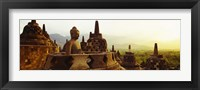 Framed Indonesia, Java, Borobudur Temple