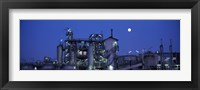 Framed Low angle view of an oil refinery, Hamburg, Germany