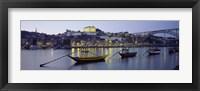 Framed Boats In A River, Douro River, Porto, Portugal
