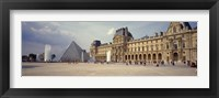 Framed Tourists near a pyramid, Louvre Pyramid, Musee Du Louvre, Paris, Ile-de-France, France