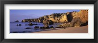Framed Portugal, Lagos, Algarve Region, Panoramic view of the beach and coastline