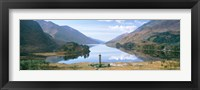 Framed Scotland, Highlands, Loch Shiel Glenfinnan Monument, Reflection of cloud in the lake