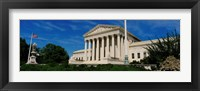 Framed US Supreme Court Building, Washington DC, District Of Columbia, USA