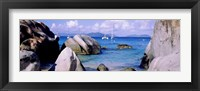 Framed Boulders on a coast, The Baths, Virgin Gorda, British Virgin Islands