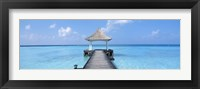 Framed Beach & Pier The Maldives