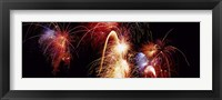 Framed Fireworks Display, Banff, Alberta, Canada