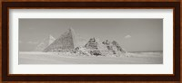 Framed Pyramids Of Giza, Egypt