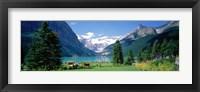 Framed Shore of Lake Louise, Banff National Park, Alberta, Canada