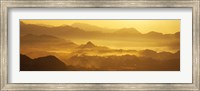 Framed Mountains with valley at sunset, Takachiho-Kyo, Miyazaki Prefecture, Kyushu, Japan