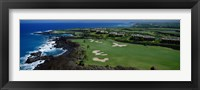 Framed Aerial Francis H Li Brown Golf Course, Hawaii, USA