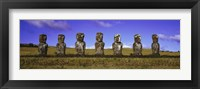 Framed Moai Easter Island Chile