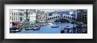 Framed Rialto Bridge & Grand Canal Venice Italy