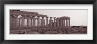 Framed Acropolis Selinunte Archeological Park, Italy