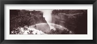 Framed Victoria Falls Zimbabwe Africa (black and white)