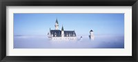 Framed Castle covered with fog, Neuschwanstein Castle, Bavaria, Germany
