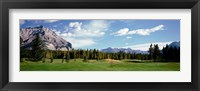 Framed Golf Course Banff Alberta Canada