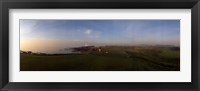 Framed Golf course with a lighthouse in the background, Turnberry, South Ayrshire, Scotland