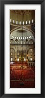 Framed Interiors of a mosque, Suleymanie Mosque, Istanbul, Turkey
