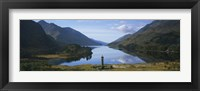 Framed High angle view of a monument near a lake, Glenfinnan Monument, Loch Shiel, Highlands Region, Scotland