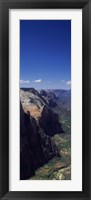 Framed View from Observation Point, Zion National Park, Utah, USA
