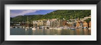 Framed Boats in a River, Bergen, Hordaland, Norway
