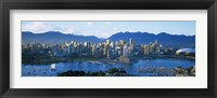 Framed Skyscrapers at the waterfront, Vancouver, British Columbia, Canada