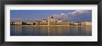 Framed Parliament building at the waterfront, Danube River, Budapest, Hungary