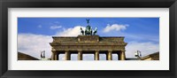 Framed High section view of a memorial gate, Brandenburg Gate, Berlin, Germany